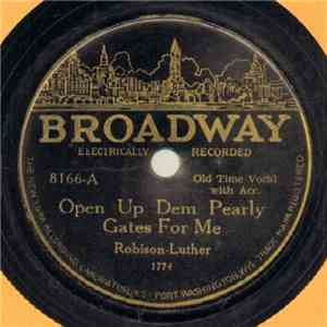 Robison - Luther / Frank Luther  - Open Up Dem Pearly Gates For Me / A Mother's Plea download mp3 flac